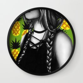 Summer Pinapples Wall Clock