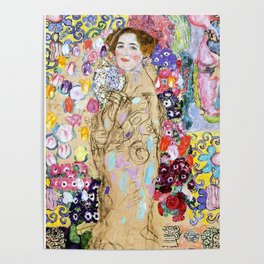 "Gustav Klimt ""Portrait of Maria Munk (unfinished)"" Poster"