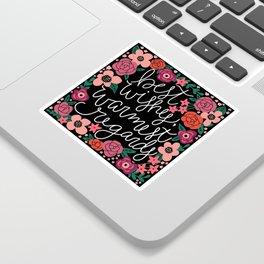 Best Wishes, Warmest Regards Sticker