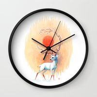 spirit Wall Clocks featuring Spring Spirit by Freeminds