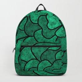 Green flower Backpack