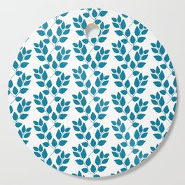 turquoise tree twig pattern Cutting Board