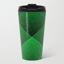Plush Kelly Green Diamond Travel Mug