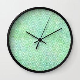 Glitter Mermaid Tail Pattern Wall Clock
