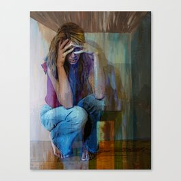 AND ALICE WONDERS...HOW EVER DID SHE GET THIS WAY Canvas Print