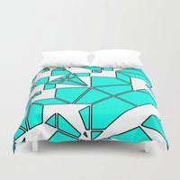 cage Duvet Covers featuring ELEPHANT CAGE by Kingsley Ryan