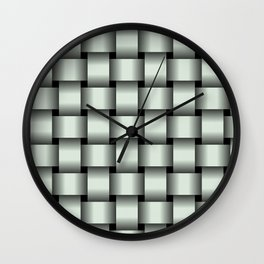 Large Pastel Green Weave Wall Clock