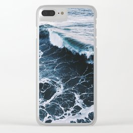 Marble Ocean Clear iPhone Case