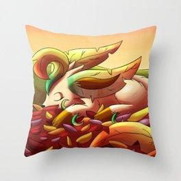 Autumn - Leafeon Throw Pillow