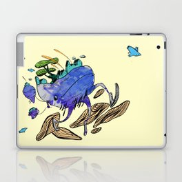 explore (blue) Laptop & iPad Skin