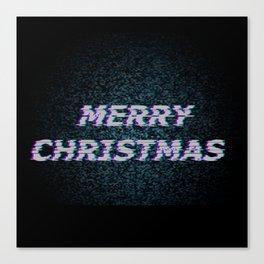 Christmas Glitch Canvas Print