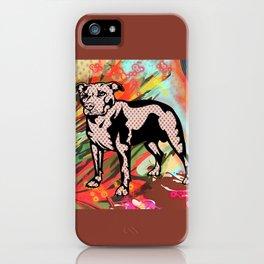 Super dog pop art iPhone Case