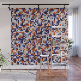 Knitted multicolor pattern 4 Wall Mural