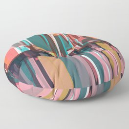 Abstract Composition 639 Floor Pillow