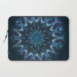 Blue Ice Swirl mandala Laptop Sleeve