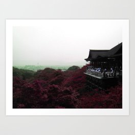 From a distance (Kyoto, Japan) Art Print