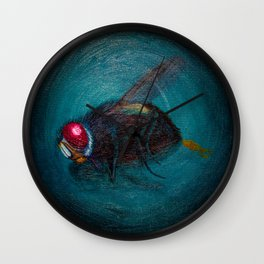 Dead Fly Wall Clock