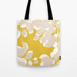 leave mustard yellow Tote Bag