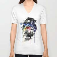 calcifer V-neck T-shirts featuring Howl's Moving Castle by Sandra Ink