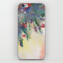 'A Little Holiday Cheer' Watercolor Painting iPhone Skin
