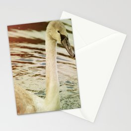 OLD TIMES SWAN. Stationery Cards