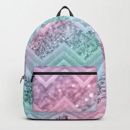 Mermaid Glitter Chevron #2 #shiny #pastel #decor #art #society6 Backpack