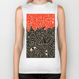 - fall : a red storm and the sea - Biker Tank