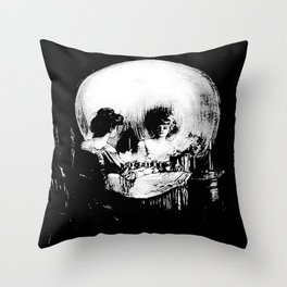 All Is Vanity: Halloween Life, Death, and Existence Throw Pillow