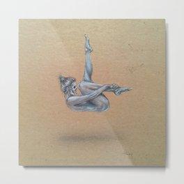 Nude Catrina Metal Print