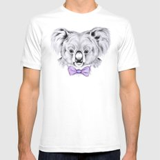 Koala Mens Fitted Tee White LARGE
