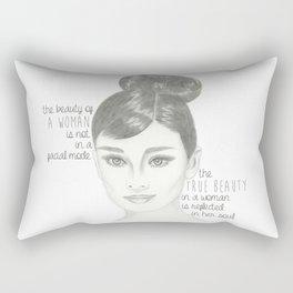The True Beauty of a Woman Rectangular Pillow