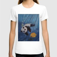 diver T-shirts featuring Panda Diver by Michael Creese