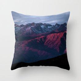 Red mountain 4 Throw Pillow