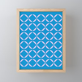 Minimalist Geometric Shapes in Pink and Blue Framed Mini Art Print