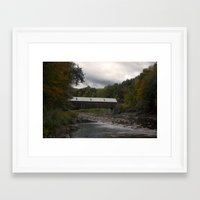 vermont Framed Art Prints featuring Vermont by memoryradio