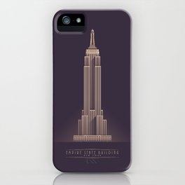 Empire State Building New York Art Deco - Vintage Dark iPhone Case
