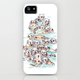 Wild family series - Otters iPhone Case
