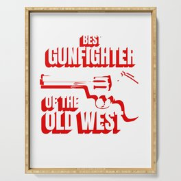 Wild West Collection Best Gunfighter Of Old West Serving Tray