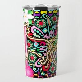 Mandalas, Cats & Flowers Fantasy Pattern Travel Mug