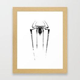 Amazing Spiderman B/W Framed Art Print