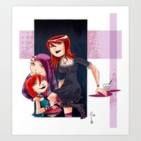 Goth Girls Art Print