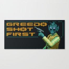 Greedo Shot First Canvas Print