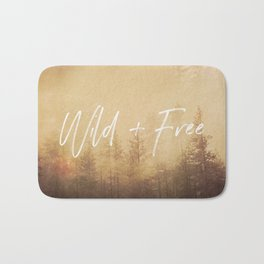 Wild And Free - Cascadia Forest Bath Mat