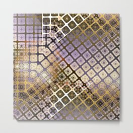 Place 2B Pattern (Lush Gold) Metal Print