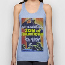Son of Frankenstein, vintage horror movie poster Unisex Tank Top