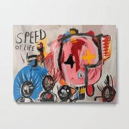 """The speed of life"" Street art graffiti and art brut Metal Print"