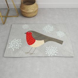 Robin and Snowflakes Rug