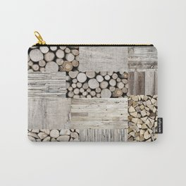 Wood Collage rustic weathered Carry-All Pouch