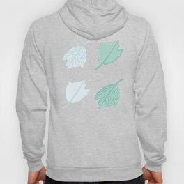 Four Silver Poplar Leaves Illustration Hoody