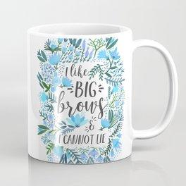 Big Brows – Blue Palette Coffee Mug